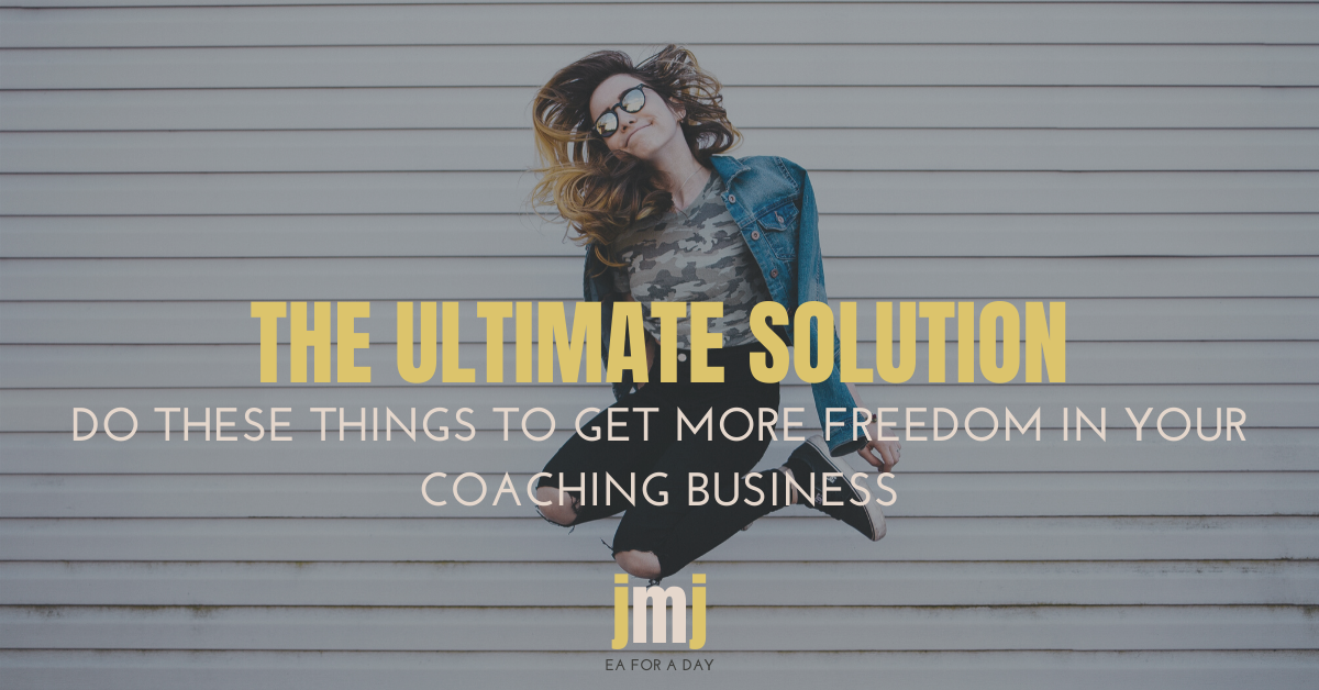 Free up your coaching business blog image