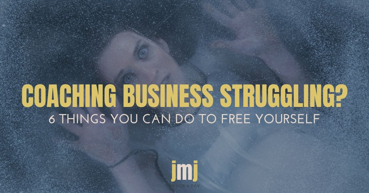 Coaching business struggling blog image